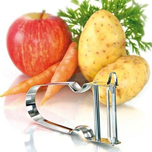 (Rex Vegetable Peeler with Slip Proof Handle Stainless Steel Peel Potatoes/Carrots/Turnips)