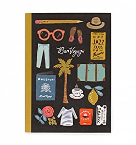 Rifle Paper Co - Travel Essential Journal to Record All Your Memories,Bon Voyage