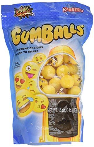 Emoji Universe: Bag of Emoji Gumball Refills, 1 lb of Gumballs - Flavored Gumballs
