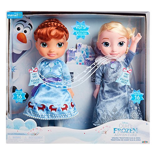 Disney Olafs Frozen Adventure Singing Traditions Elsa and Anna