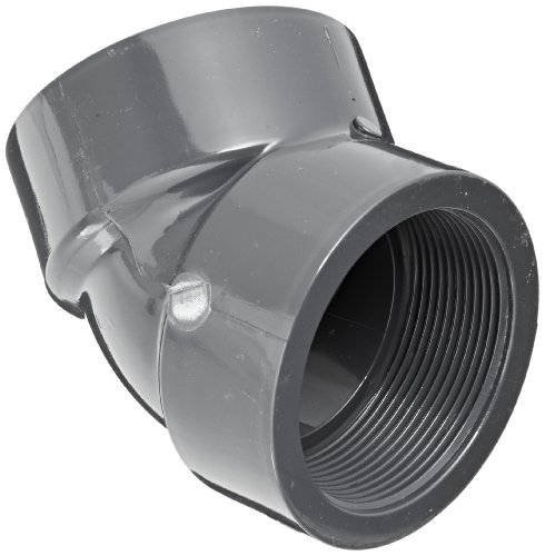 (Spears 819 Series PVC Pipe Fitting, 45 Degree Elbow, Schedule 80, 1/2