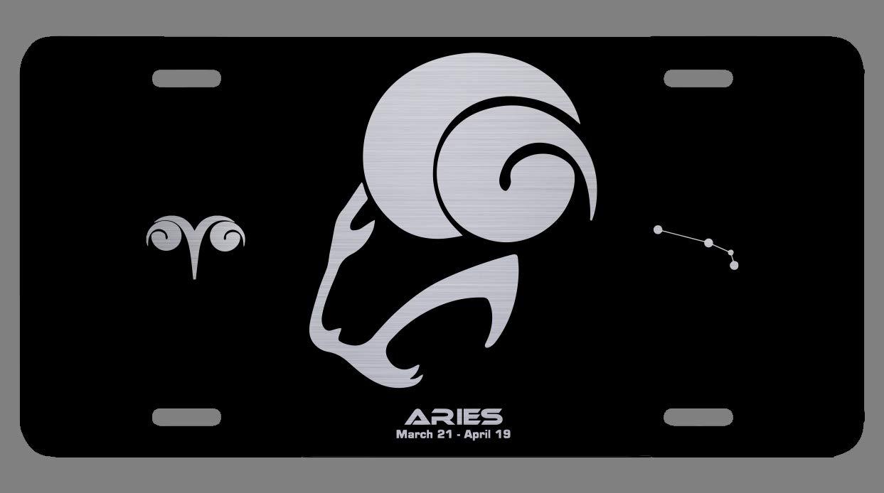 Sagittarius OGO Zodiac Laser Etched Metal License Plate Gift Astrology Constellation Horoscope Astrological Aries Taurus Gemini Cancer Leo Virgo Libra Scorpio Sagittarius Capricorn Aquarius Pisces Gifts