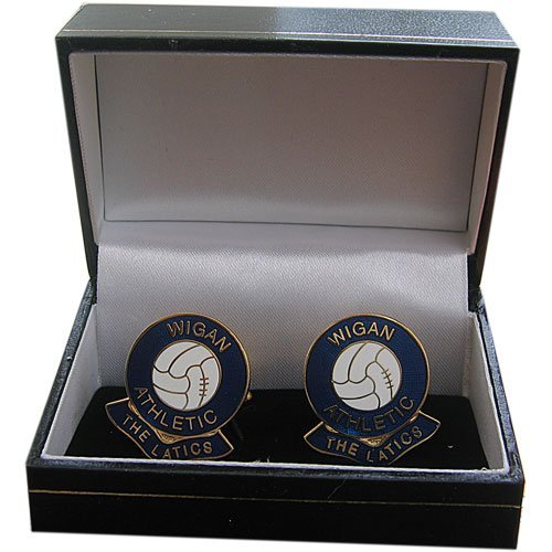 Wigan Athletic Football (Wigan Athletic Football Club Cufflinks by Football Club Cufflinks)