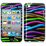 Rainbow Zebra (Front & Back) Graphic Case - for LE iPod Touch 4G