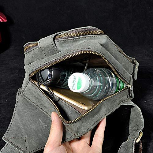 Hommes Mode D'épaule Air En De Cuir Plein Multifonction Bandoulière À Payonr Pour Sports vert Dos Sac 1C6AqwHH0