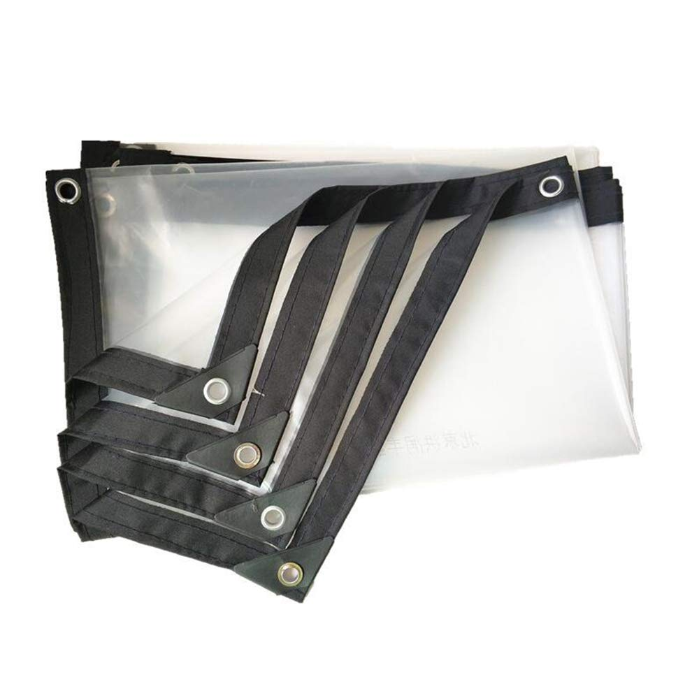 3mx8m XRFHZT Couverture imperméable Transparente de Couverture imperméable à la Pluie de Tissu en Plastique imperméable à la Pluie Film Anti-vieillisseHommest Isolation PE imperméable à l'eau,3mx8m