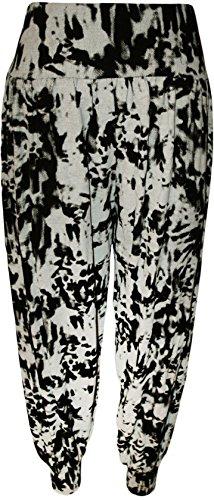 New Womens Plus Size Printed Alibaba Harem Pants Trousers ( Tye Dye, 2X )