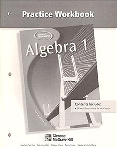 Glencoe Algebra 1. Answer Key Maker. (With Solutions Manual ...