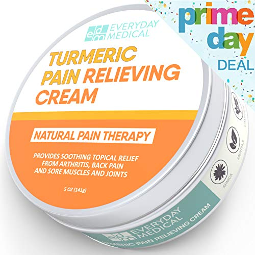 - Everyday Medical Turmeric Pain Relief Cream I Advanced Curcumin Pain Relief and Joint Support I Analgesic Pain Relieving Salve for Arthritis, Back Pain, Muscle Ache and Sore Joints - 5oz (148g)