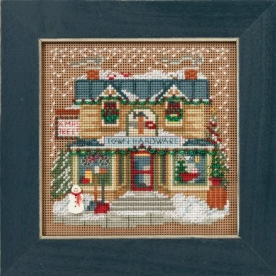 Town Hardware Beaded Counted Cross Stitch Kit Mill Hill Butt