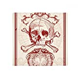 Red Crown Skeleton Poker Card Pattern Anti-slip Floor Pet Mat Square Home Kitchen Door 80cm Gift