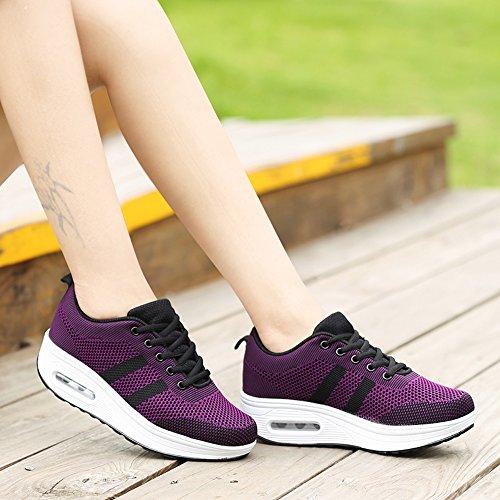 Mode Talon Dames Confortable Fitness De Compens Plateau Femmes Sport Espadrille Chaussures Les zgUgvq