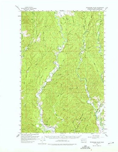 Washington Maps - 1955 Wynoochee Valley, WA USGS Historical Topographic Map - Cartography Wall Art - 35in x ()