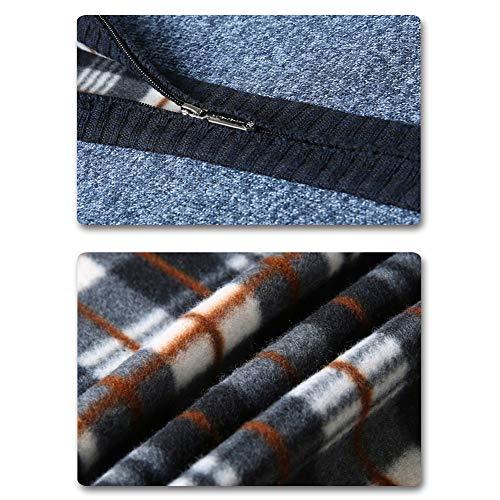 maniche 1 grigia Cardigan a a Men's maglia maglia Allthemen lunghe La HvxXcBOq