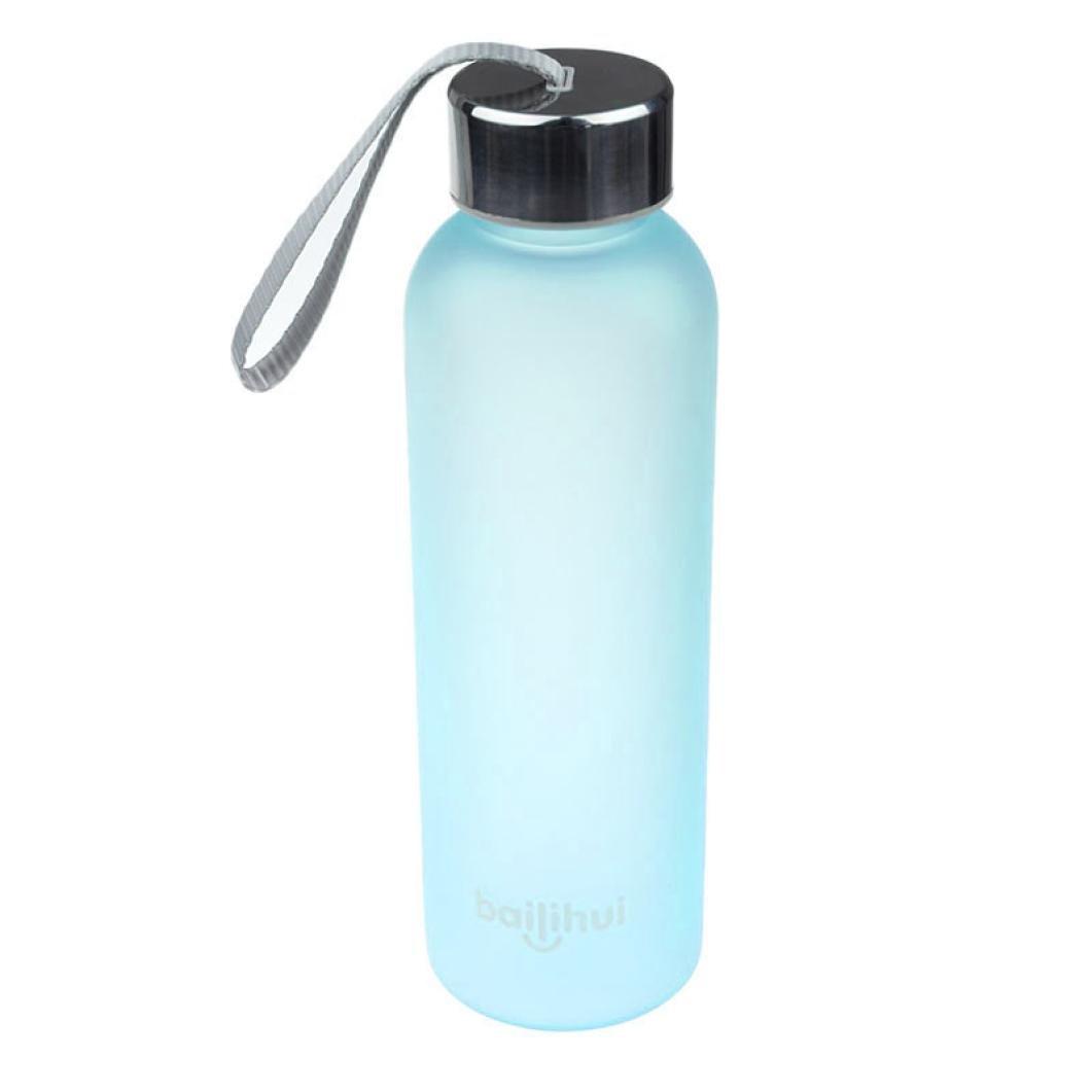 dolloress 600 mlポータブル旅行Leak Proof Fruit JuiceスポーツボトルFrosted水カップ B07C8GGW2K A