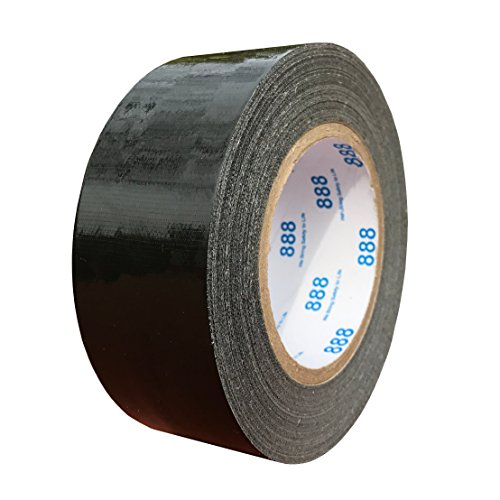 MG888 Black Duct Tape 1.88 Inches x 60 Yards, Duct Tape for Crafts, DIY, Repairs, Indoor Outdoor Use, Book Repair, Must Have Garage Tool for $<!--$11.99-->