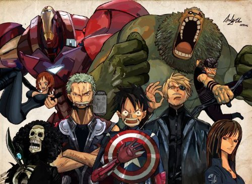 One Piece Meets Avengers Play Mat One Piece Card Game