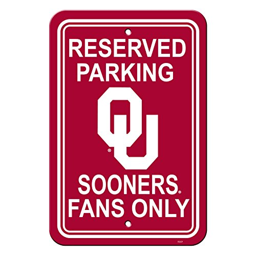 Official National Collegiate Athletic Association Fan Shop Authentic NCAA Parking Sign (Oklahoma Sooners) - Oklahoma Fan
