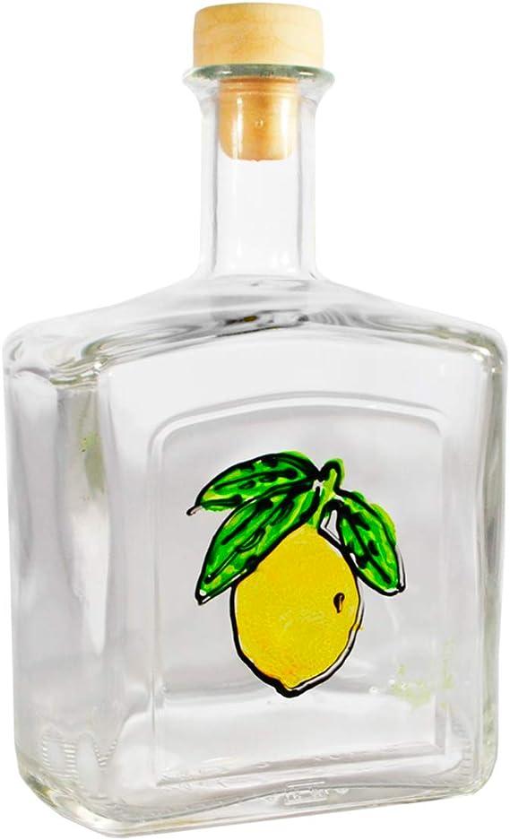 Botella Capri Línea Limone Lustro de cristal para Limoncello 70 CL: Amazon.es: Hogar