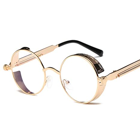 Yangjing-hl Gafas de Sol clásicas Gafas Redondas de ...