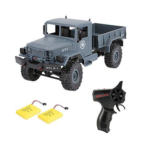 Goolsky トラック RC軍用トラック WPL B-1 1/16 2.4G 4WD オフロード ロック クローラー ラジコン軍用車 2つのバッテリー おもちゃ