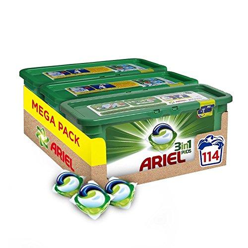 Ariel 3-In-1 Pods Detergente En Capsulas - 114 Lavados (3 X 38): Amazon.es: Salud y cuidado personal