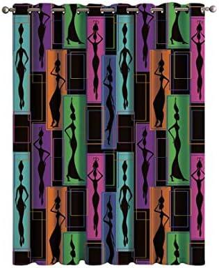 iprint Cortina para Puerta de Patio, diseño Circular, Color Verde ...