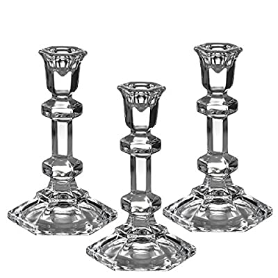 3 Hexagonal Shaped Taper / Stick Candle Holder