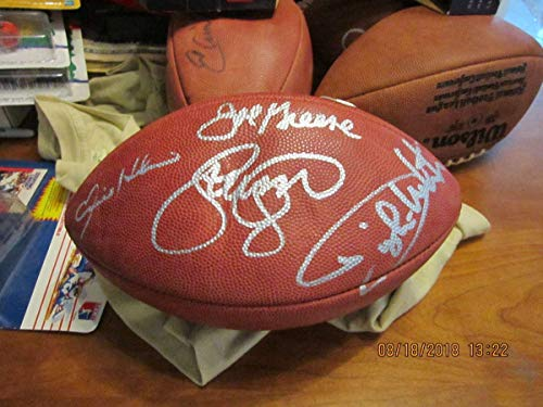 (Joe Greene Signed Ball - Steel Curtain - Tristar Productions Certified - Autographed Footballs)