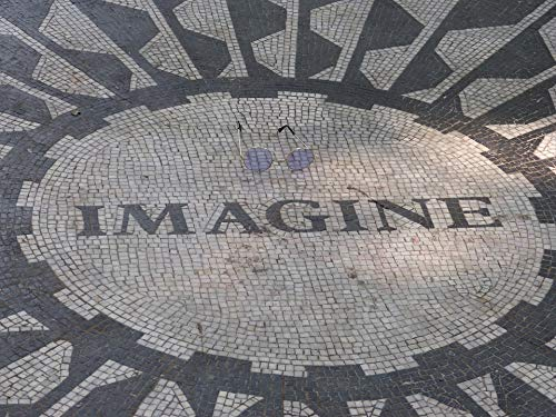 Home Comforts Canvas Print John Lennon Strawberry Fields Central Park Imagine Vivid Imagery Stretched Canvas 10 x 14
