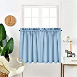 IDEALHOUSE Tier Curtains,Blackout Waffle Woven