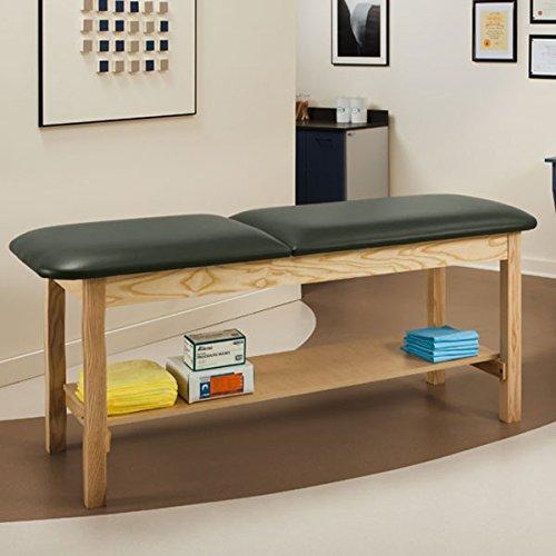 Treatment Exam Table Wooden Full shelf Adj backrest 30'' Gunmetal