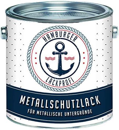 Metallschutzlack MATT Mausgrau RAL 7005 Grau Metallschutzfarbe Metalllack Metallfarbe // Hamburger Lack-Profi (1 L)