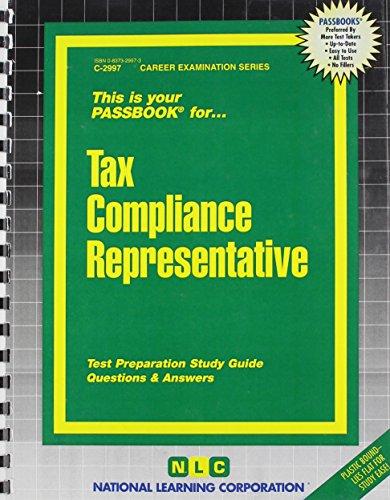 Tax Compliance Representative Passbooks   Career Examination Passbooks