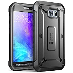 Galaxy S6 Active Case, Supcase Full-body Rugged Holster Case With Built-in Screen Protector For Samsung Galaxy S6 Active 2015 Release Will Not Fit Galaxy S6 Unicorn Beetle Pro Series - Retail Package (Blackblack)