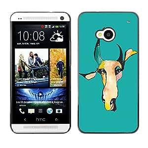 - COW - - Monedero pared Design Premium cuero del tir¨®n magn¨¦tico delgado del caso de la cubierta pata de ca FOR HTC 801e HTC One M7 Funny House