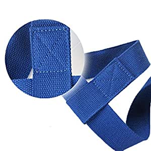 Yoga Mat Strap Sling Adjustable Made With The Best, Durable Cotton - Yoga Mat Straps with Yoga Straps Exercise Mat Straps Rope Two-way Elastic blue