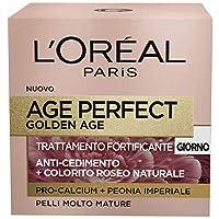L'Oréal Paris Crema Viso Antirughe Age Perfect Golden Age, Trattamento Fortificante Giorno, Adatto a Pelli Mature, 50 ml