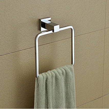 SUHAGN Anillo de toalla Todo El Cobre Cuadrado Sólido De Toallas De Baño, Anillo,