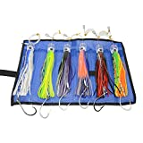 SODIAL 6 pcs 9 Inch Saltwater Fishing Lures Trolling Lures for Tuna Marlin Dolphin Mahi Wahoo and Durado, Included Rigged Big Game Fishing Lures and Bag