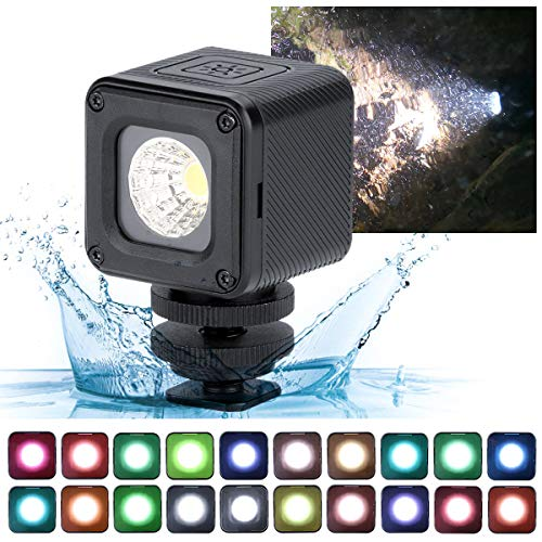 L1 Pro Mini LED Underwater Light + 20pcs Color Filters 10m Waterproof Adventure LED Lighting for Smartphone DJI Osmo Pocket Osmo Action Gopro 7/6/5 Sony DSLR Camera