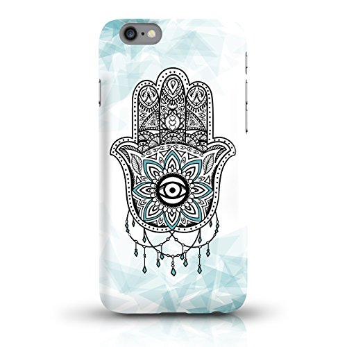 """JUNIWORDS Handyhüllen Slim Case für iPhone 6 / 6s - Motiv """"Hand of Fatima türkis"""" Schutzhülle für Ihr Smartphone"""