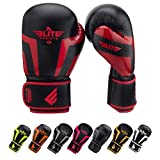 youth boxing - Elite Sports New Item Standard Adult Kickboxing, Muay Thai Gel Sparring Training Boxing Gloves (Red 10oz)