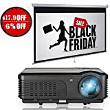 HD Home Theater LCD LED Projector 3200 Lumens WXGA 50,000 hrs Lamp Life Support 1080p HDMI Multimedia Smart Projector 1280x800 Native for Computer iPad Smartphone-Outdoor Indoor Movie Video Games