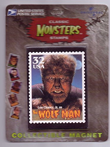 Lon Chaney Jr. Classic Monsters USPS Stamp Magnet - The Wolfman