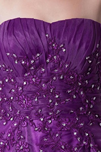 Shiny Lila Kapelle Abendkleid GEORGE langen Schlepp BRIDE traegerlosen qCOF1wRz