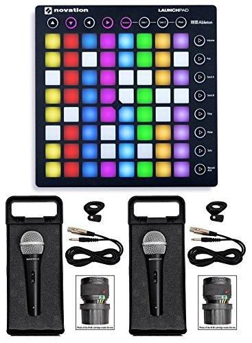 novation-launchpad-s-mk2-mkii-midi-usb-rgb-dj-controller-pad-2-microphones