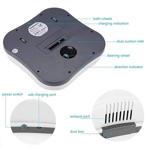 CQL Mini Robot de Barrido Inteligente Mini limpiaparabrisas Inteligente Aspirador automático de vacío doméstico para el Pelo del Animal doméstico,Blue: ...