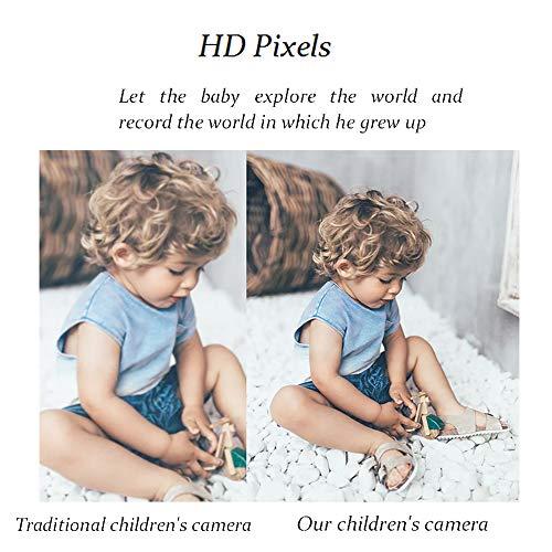 IEBRT Kids Video Camera, Kids Digital Camera Toddler Video Camcorder Video Camera Recorder Rechargeable Shockproof Camera 2 Inch LCD Screen Birthday Toy Gifts for 3-12 Years Old Boys Girls