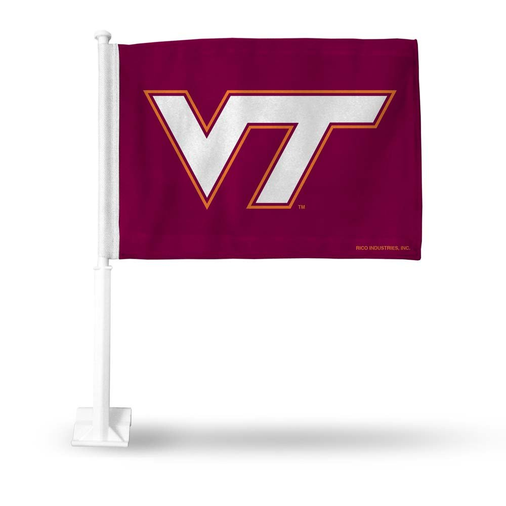 Rico NCAA Virginia Tech Car Flag Sports Fan Automotive Flags, Multicolor, One Size